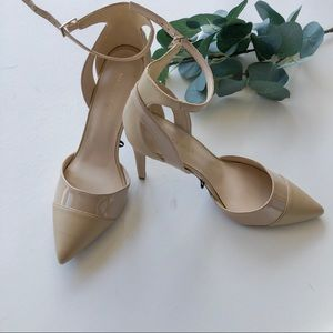 Marc Fisher Tan Ankle Strap Heels